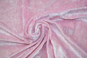 "Premium Quality Crushed Velvet Medium Weight 2 Way stretch Fabric Material 58"""