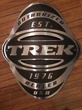 "Vintage New-Old-Stock TREK BICYCLE Head Badge Sign 28"" x 25"""