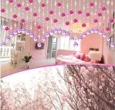 Crystal Glass Rose Bead Curtain Living Room Bedroom Window Door Wedding Decor AU