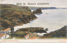 PC26931 With The Seasons Compliments. Kynance Cove. Falmouth. Argall. 1905