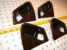 Mercedes Late W163 ML430/320 F & R WOOD door handle L & R Genuine MB 4 Surrounds