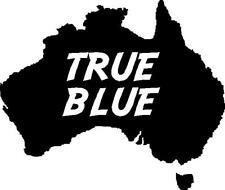AUSTRALIA WITH TRUE BLUE CAR DECAL STICKER