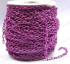 NP1377 Wholesale 2M Purple cable open link iron metal chain findings