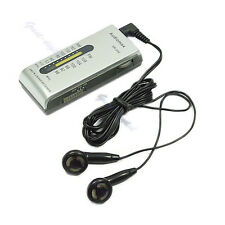 Portable AM/FM 2 Band  Receiver Pocket Radio +Earphone S