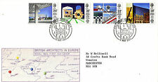12 MAGGIO 1987 architetti inglesi in Europa ROYAL MAIL FIRST DAY COVER Ipswich SHS