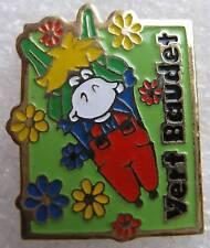 Pin's Vert baudet petit ane vert avec des fleurs #598