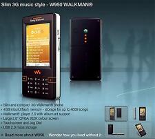 W950 Sony Ericsson Walkman W950i Mystic purple Unlocked Triband Gsm Smartphone