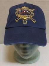 Ralph Lauren Polo CROWN Embroidered CREST 1967 Navy Blue Hat Cap Leather Strap