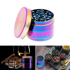 """Large Spice Tobacco Herb Weed Grinder-4 Pcs with Pollen Catcher-50MM"""" Rainbow US"""
