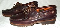 Timberland Classic Brown Leather 3 Eye Mens Boat Deck Shoes Size 13 M