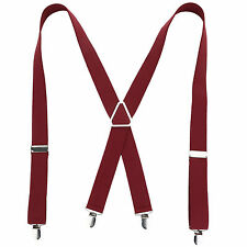 35mm WIDE Durable Trouser Heavy Duty Men Braces Suspender Elastic