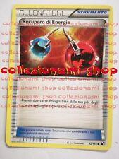 RECUPERO DI ENERGIA - NON COMUNE 92/114 - BIANCO E NERO - POKEMON - ITALIANO
