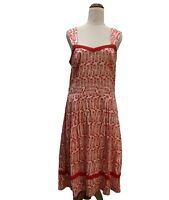 CITY CHIC Dress Size XS (14) Work Party Knee Length Fit & Flare Red & White