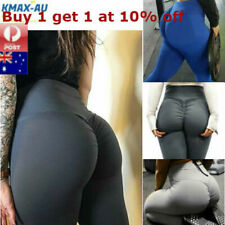 Womens Yoga Pants Leggings Push Up Fitness Gym Sports Scrunch Stretch Trousers
