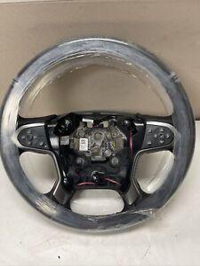 2015-2018 GMC Sierra Silverado 1500 -HD Steering Wheel Heated Black OEM 84483775
