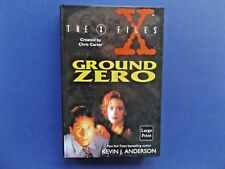 | @Oz | THE X FILES : Ground Zero By Kevin J. Anderson (1996), Large Print Ed HC