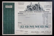 US Group of 7 Stock Certificates