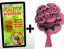 Whoopee Whoopie Cushion +  2pk Fart Cork Stopper's ~ GaG Prank Joke Set