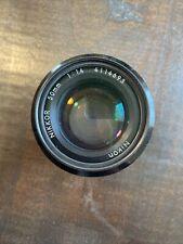 Nikon Nikkor 50mm 1:1.4 Camera Lens
