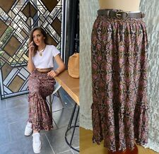 ZARA MAXI ROCK GÜRTEL BOHO HIPPIE LONG BELTED SKIRT