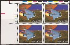 US Stamp 1993 $2.90 Space Shuttle Plate Block of 4 Stamps #2543