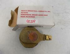WESCO HORIZONTAL BRASS DRUM VENT 272030 NIB