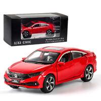 1:32 Honda Civic Metall Die Cast Modellauto Auto Spielzeug Model Kinder Rot