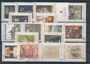 [G44648] Czechoslovakia Art Paintings Good lot Very Fine MNH stamps