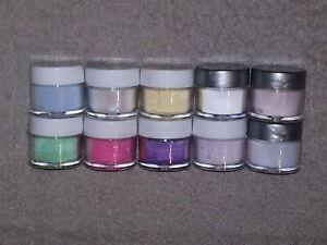 NSI Technailcolor Acrylic Powder 10 x 7g Assorted Color Set #1