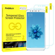PASBUY 2 Pack Premium Tempered Glass Screen Protector for Xiaomi Mi A2 (Mi 6X)