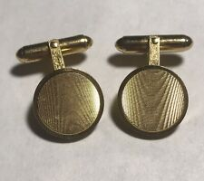 Christian Dior Men's Gold-tone Wood Design Cufflinks