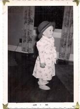 Darling Kid In Robe Slippers Pajamas Wearing Fedora Hat Vintage Photo