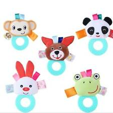 Newborn Infant Baby Animals Soft Rattles Teether Hanging Bell Plush Toys RF