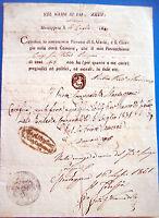 1831 DOCUMENTO DA MONTAPPONE DI FERMO SU PRECETTI POLITICI DI UN EBREO