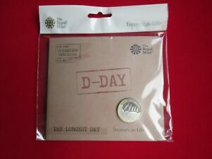 2019 D-Day 75th Ann. Longest Day £2 Coin BUNC Royal Mint Presentation