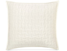 Hotel Collection Connection Ivory Quilted (1) Euro Pillow Sham Square 26x26 001