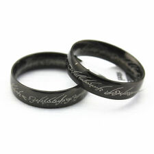 Size12 Black Colors Black IP Lord of the Ring, The One LOTR Band Ring Hot Sales