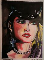 Acrylic painting of Madonna by artist Mark Robinson