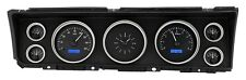 1967 Chevrolet Impala Dakota Digital Black Alloy & Blue VHX Gauge Dash Kit