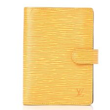 LOUIS VUITTON Epi Small Ring Agenda Cover Tassil Yellow 253156
