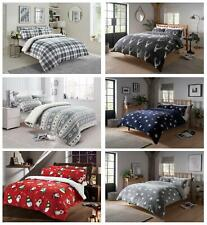 Teddy Duvet Cover Set Soft Printed Stars Stag Quilt Sets Warm Winter Bedding
