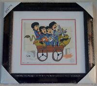 THE BEATLES PICTURE BULLRIDE ANIMATION LTD ED SERICEL COA FRAMED NIB