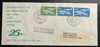 1961 Dublin Ireland First Day Cover FDC To Long Island NY USA Aer Lingus