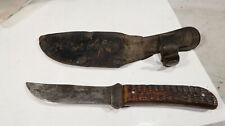 Cattaraugus Pal o Mine Fixed Blade Knife with Sheath