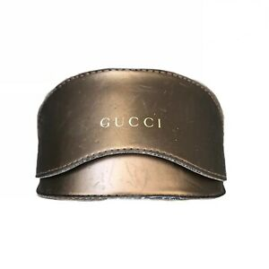 Gucci Sunglasses Case Moon Brown Gold GG Monograph Lined *Scuffed See Pics*