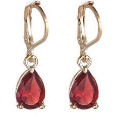 1 Pair Cubic Zirconia Teardrop Drop Dangle Earrings Gold Silver Tone Jewelry