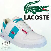 Lacoste Men's Trainers White & Green 90 Thrill Sn 94 Leather Retro Shoes