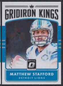 2016 DONRUSS OPTIC GRIDIRON KINGS MATTHEW STAFFORD DETROIT LIONS #23
