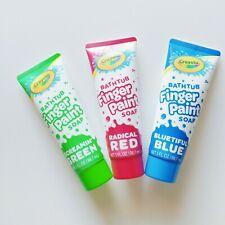 Kids Finger Paint Soap Crayola Bathtub Set Of 3 Sealed NEW Fun Boys Girls Bath