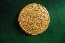 GOLD 1714 FLEET New !  8 ESCUDO ROYAL SHIPWRECK COIN REPRO